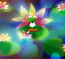 Yoga Frog  by Laksen