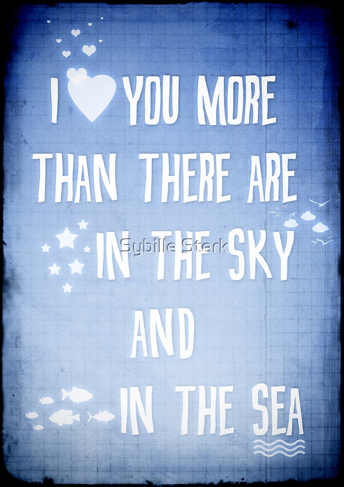 I ♥ you more by Sybille Sterk