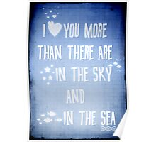 I ♥ you more Poster