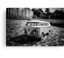 Super Mini VW Van BW Canvas Print
