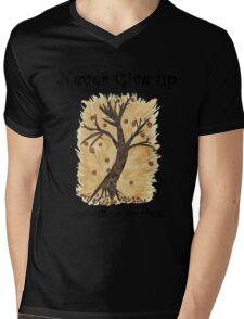 A Happy Tree on Tshirt Mens V-Neck T-Shirt