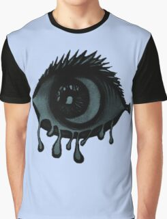 Abstract fish/eye? (Blue) Graphic T-Shirt
