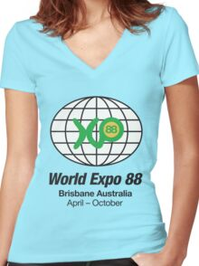 Expo 88 Women's Fitted V-Neck T-Shirt