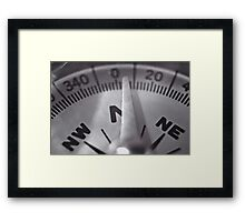 Compass Needle VRS2 Framed Print