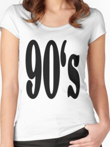 90's Women's Fitted Scoop T-Shirt