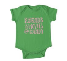 FRIENDS and MOVIES and CANDY One Piece - Short Sleeve