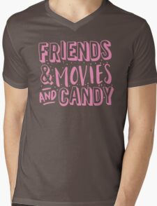 FRIENDS and MOVIES and CANDY Mens V-Neck T-Shirt