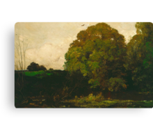 A Pond in the Morvan, 1869 Canvas Print