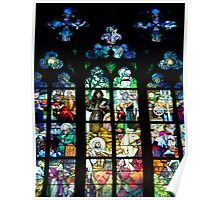 Religious History In Stained Glass Poster