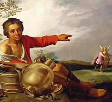Shepherd Boy Pointing at Tobias and the Angel, c.1625-30 by Bridgeman Art Library