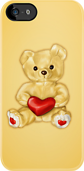 Cute Teddy Bear Hypnotist IPhone Case by Boriana Giormova