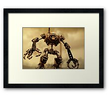 Steampunk Mechanoid Framed Print