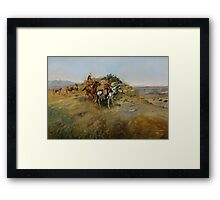 Buffalo Hunt, 1891 Framed Print