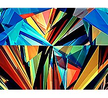 Colourful triangles! Photographic Print