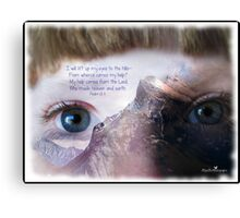 Eyes on the hills Canvas Print