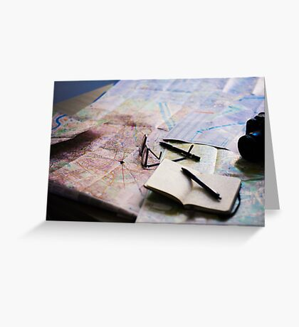 Plan your trip with anticipation Greeting Card