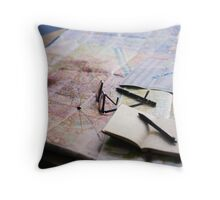 Plan your trip with anticipation Throw Pillow