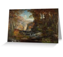 A Scene on the Tohickon Creek: Autumn, 1868 Greeting Card