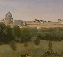 View of St. Peter's, Rome, 1826 by Bridgeman Art Library