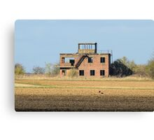 The Old Tower at RAF Coleby Grange (WWII Canadian airfield) Canvas Print