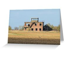 The Old Tower at RAF Coleby Grange (WWII Canadian airfield) Greeting Card
