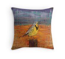 Meadow Song Throw Pillow