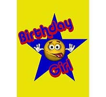 Cute Birthday Girl Smiley Face Photographic Print