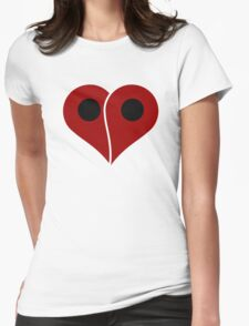 LOVE Map Marker Pin Womens Fitted T-Shirt