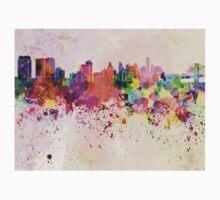 Philadelphia skyline in watercolor background Baby Tee