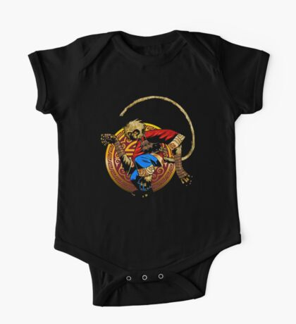 Monkey king kung fu logo One Piece - Short Sleeve