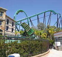 Riddler's Revenge (Roller Coaster) by MontagnaMagica
