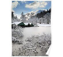 Loch Ard Winter Scene Poster