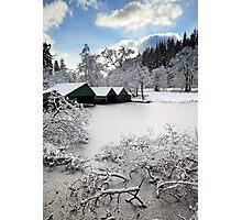 Loch Ard Winter Scene Photographic Print