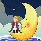 The Little Prince Standing on the Moon by scottorz