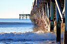 Crashing Waves At Pier by ©Dawne M. Dunton