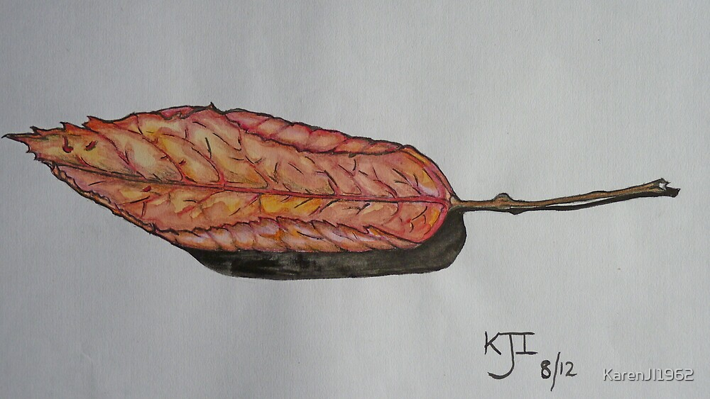 Autumn leaf by KarenJI1962