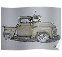 American pick up truck Poster