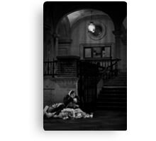 Old Lady with Soup Canvas Print