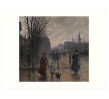 Rainy Evening on Hennepin Avenue, c.1902 Art Print