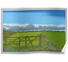 Countryside in pastels Poster