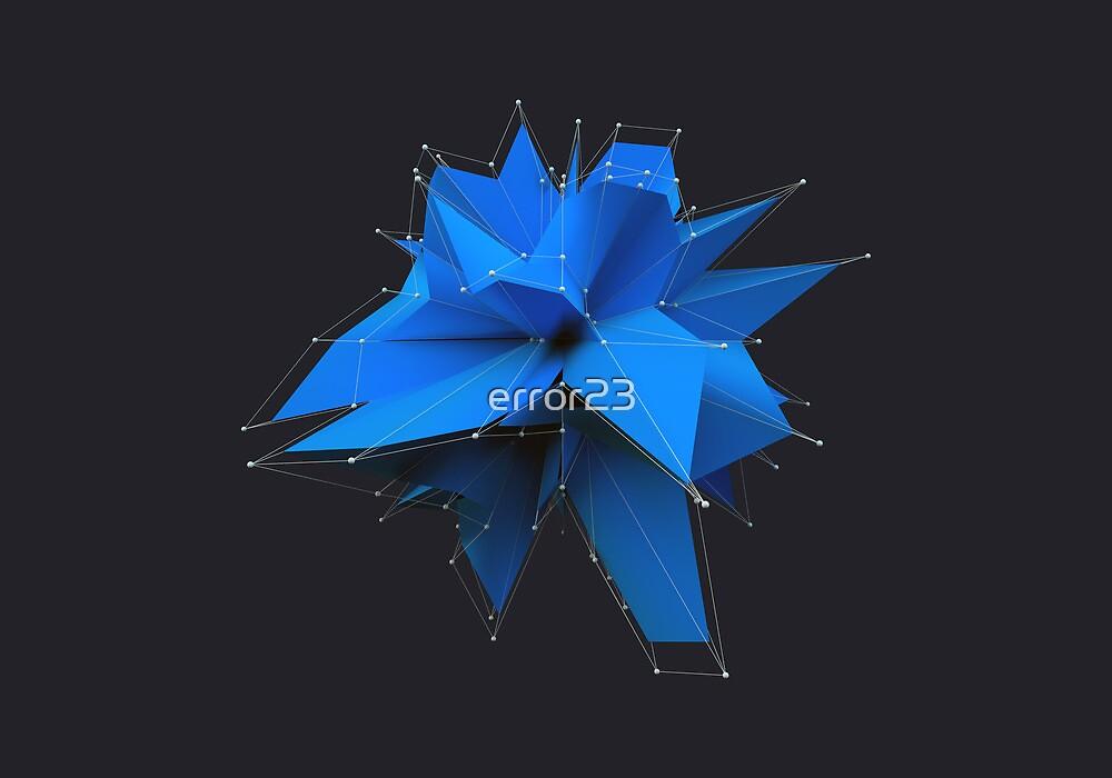 Blue Polygon by error23