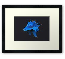 Blue Polygon Framed Print