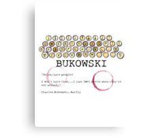 Bukowski - People Canvas Print