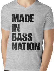 Made In Bass Nation (black) Mens V-Neck T-Shirt