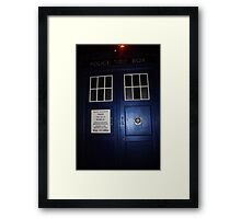 Doctor Who Tardis Door - Tom Baker Framed Print