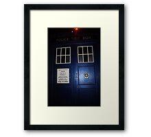 Doctor Who Tardis Door - Tom Baker Framed Print