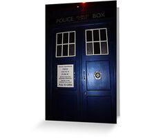 Doctor Who Tardis Door - Tom Baker Greeting Card