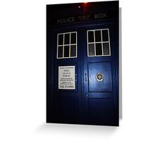 Doctor Who Tardis Door - Tom Baker Greeting Card