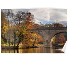 Prebends Bridge in Autumn Poster