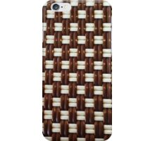 Brown and White Basket Weave iPhone Case/Skin